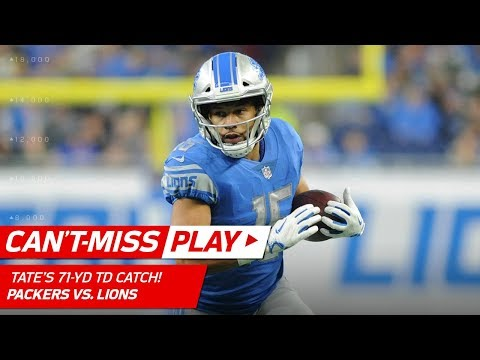 Video: Matthew Stafford Finds Golden Tate for a 71-Yd TD Catch-'n-Run! | Can't-Miss Play | NFL Wk 17