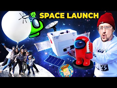 AMONG US ruins Space Launch Experiment!  (FV Family 200 mph Vlog)