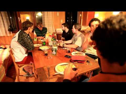 Jantar no chalet