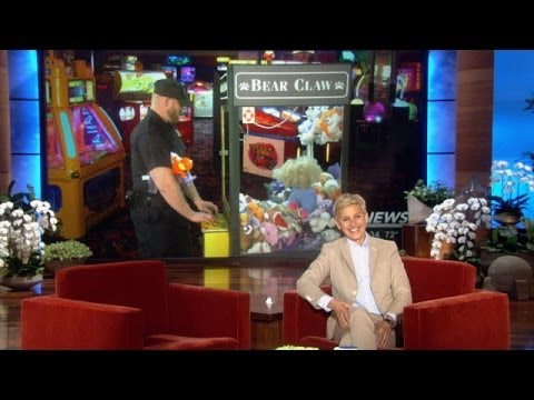 Video! - A boy got stuck in an arcade claw machine, and Ellen has video from the dramatic rescue.