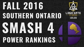 Southern Ontario Smash 4 Power Ranking – Fall 2016 Video