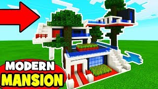 Minecraft Tutorial: How To Make A Modern Jungle Treehouse