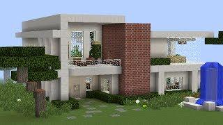 Tutorial de como hacer una casa bonita y moderna en for Casa moderna xbox 360 minecraft
