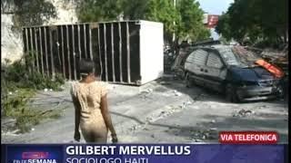 Sociólogo Gilbert Mervellus habla de la condición de Haití tras protestas