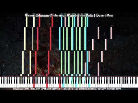 ⛄ [Black MIDI] Trans-Siberian Orchestra - Carol of the Bells | BusiedGem | 191K Notes ⛄