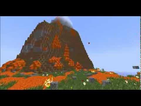 Volcano in minecraft 5 real erupting volcano in minecraft 5 diamonds