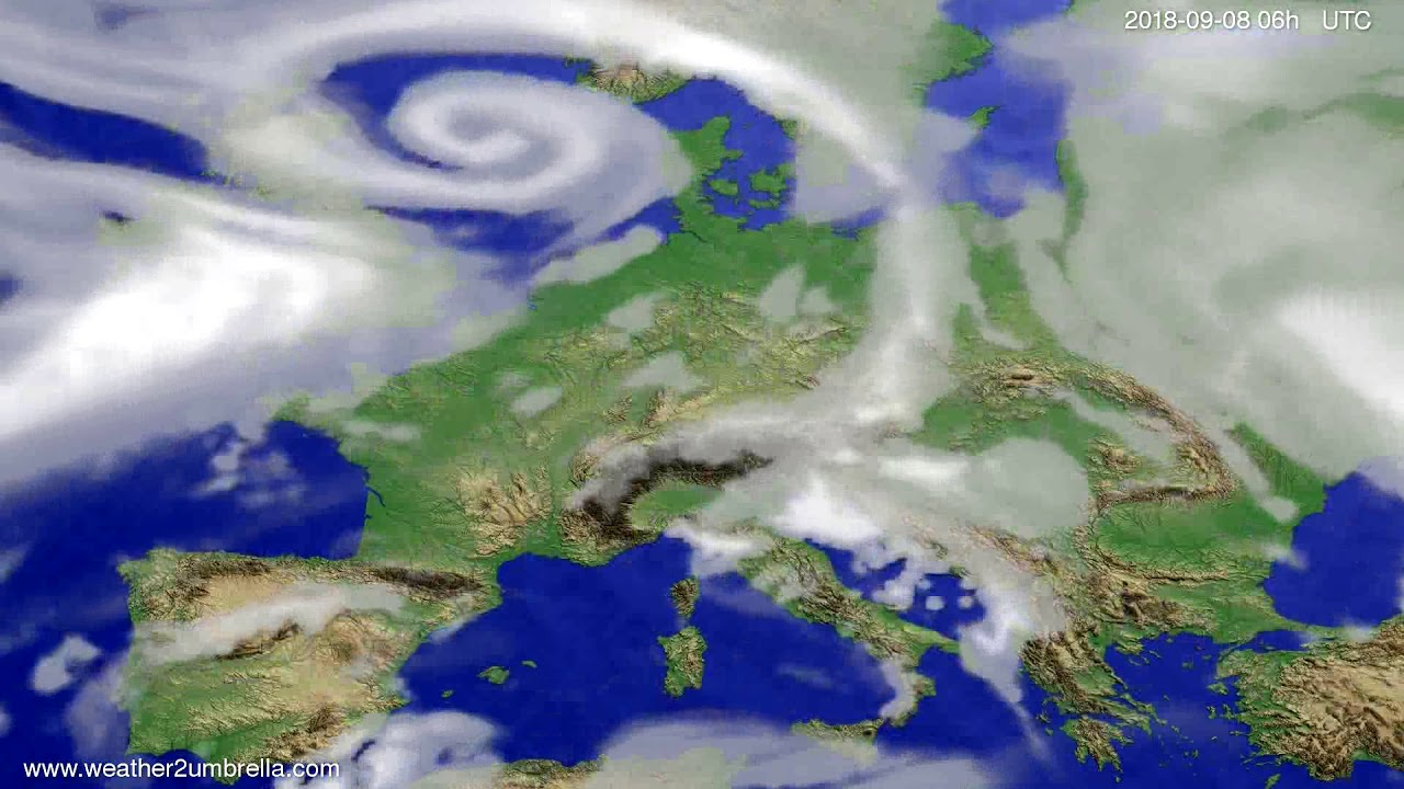 Cloud forecast Europe 2018-09-05