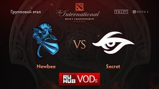 NewBee vs Secret, game 1