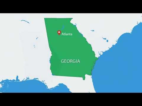 Georgia USA PowerPoint maps