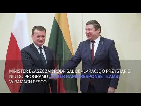 Wizyta szefa MON na Litwie - film