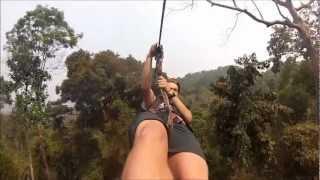 Bokeo Laos  city photos gallery : Gibbon Experience Zip Lining, Bokeo, Laos - Gopro