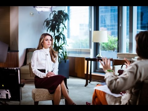 Queen Rania's Interview With CNN's Christiane Amanpour-  Part 1