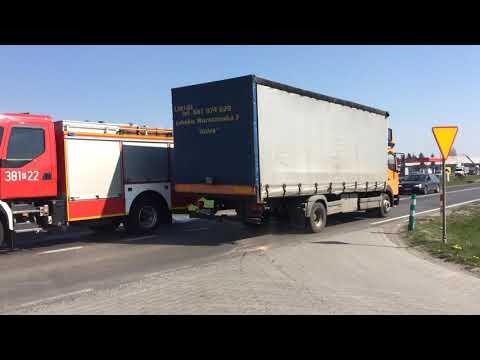 Wideo1: Kolizja na wyjeździe z Leszna w kierunku Wschowy