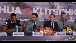 ANTHONY JOSHUA v KLITSCHKO - PRESS CONFERENCE