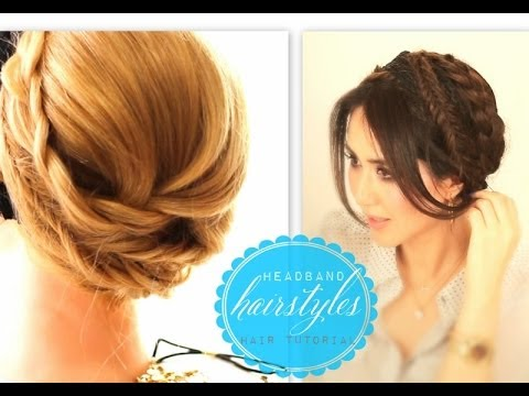 ★ CUTE WINTER HEADBAND HAIRSTYLES #1 | EVERYDAY CROWN BRAID | UPDO FOR MEDIUM LONG HAIR TUTORIAL