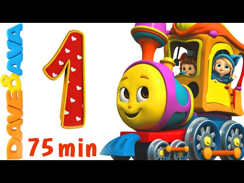 Numbers Song Collection | Number Train 1 to 10 | Counting Songs and Numbers Songs from Dave and Ava (видео)