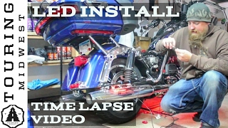 Time Lapse video LED install on my Harley Davidson