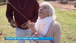 Soltar pipa é o hobby preferido de idosa de 93 anos