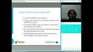 "Webinar ""SCP practices & poverty reduction from SMEs in Bangladesh"" - Mrs. Ismat Jahan"