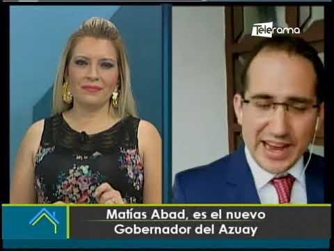 Matías Abad, es el nuevo gobernador del Azuay