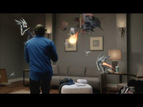 Asi es como se mira el SUPER BOWL con los HoloLens de Microsoft