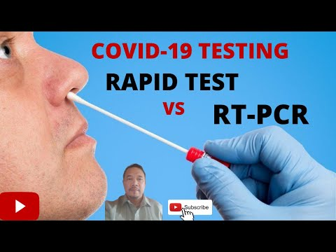 COVID 19 Tests. What is the Difference between a Rapid Test and RTPCR?