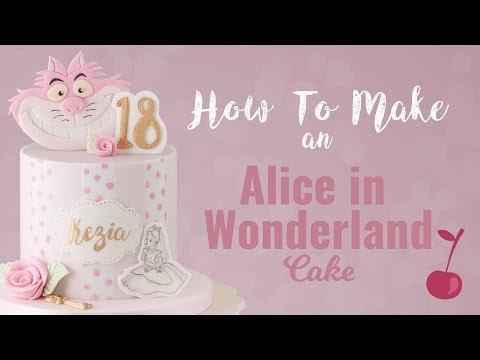 Alice in Wonderland Ditsy Floral Cake Tutorial | How To | Cherry School