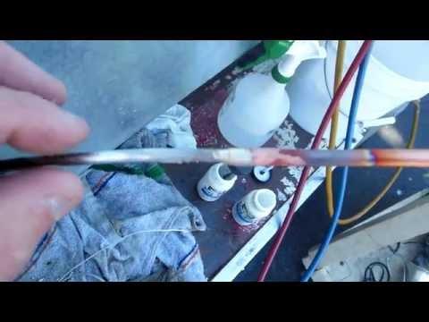 Welding / Repairing a Steel Refrigerator Condenser that Had a Leak.