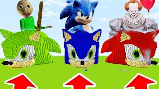 Minecraft PE : DO NOT CHOOSE THE SONIC! (Baldi,Sonic,Pennywise,)