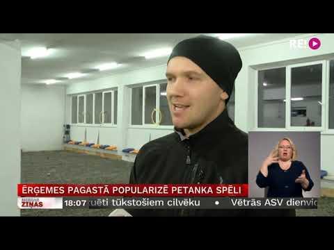 Ērģemes pagastā popularizē petanka spēli