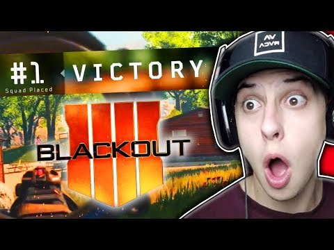 *FIRST EVER* COD BO4 BATTLE ROYALE WIN!!! (Blackout Gameplay) (видео)
