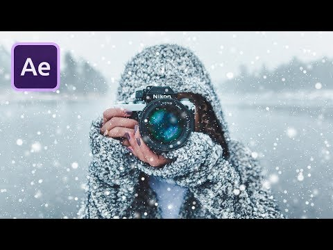 Falling SNOW Particles In After Effects
