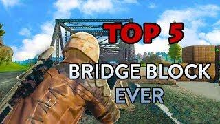 Video Top 5 Amazing Bridge Block ever in PUBG - PLAYERUNKNOWN'S BATTLEGROUNDS HIGHLIGHTS MP3, 3GP, MP4, WEBM, AVI, FLV September 2018