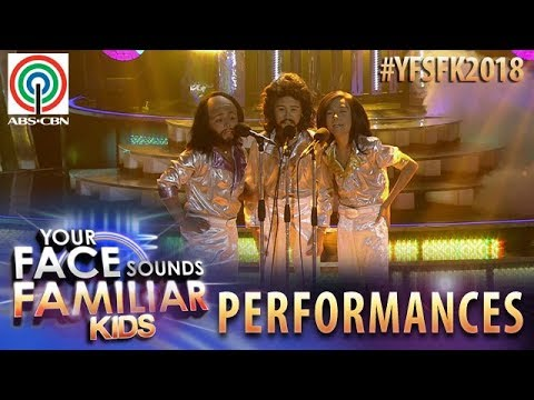 Your Face Sounds Familiar Kids 2018: TNT Boys as Bee Gees | Too Much Heaven (видео)