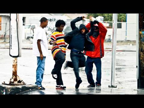 YAKfilms - for Dreal, stay up my brother. east oakland, california. Dancers are No Noize (red jacket), Man (black jacket), BJ (striped shirt), Dreal (white shirt). Dire...