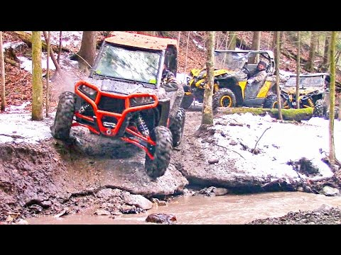 Scenic SxS Trail Ride in the Canadian Wilderness – Polaris RZR XP vs Can-Am Maverick X DS Offroading