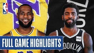 LAKERS at NETS | FULL GAME HIGHLIGHTS | January 23, 2020 by NBA
