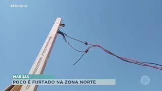 Criminosos furtam fiação de poço da Zona Norte de Marília