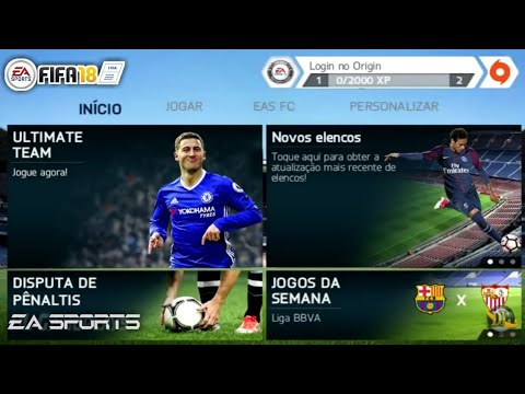 FIFA 14 Mod FIFA 18 V2 Android Offline Apk+Data Full Unlocked 2018 Patch