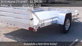 9. 2018 Aluma 7712HBT 12' Aluminum atv utility trailer for sale