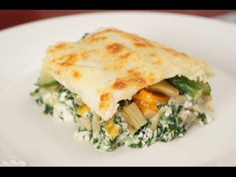 video ricetta cucinare lasagne con verdure