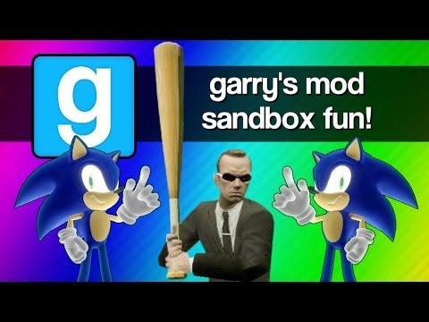 Gmod Sandbox Funny Moments – Sonic 1v1, Mcdonalds, Baseball Bat Fun, Batman, Murder House!