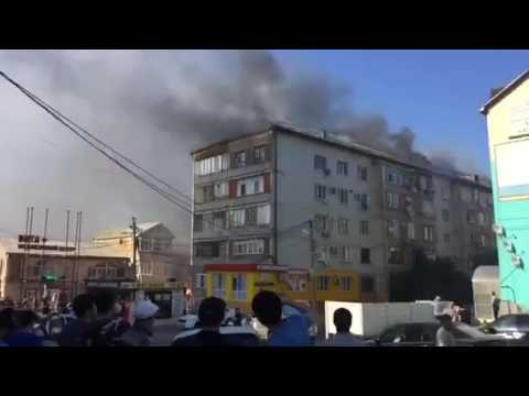 Пожар в многоэтажном доме в Махачкале ликвидирован