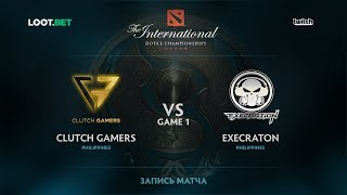 Clutch Gamers vs Execration, Game 1, The International 2017 SEA Qualifier