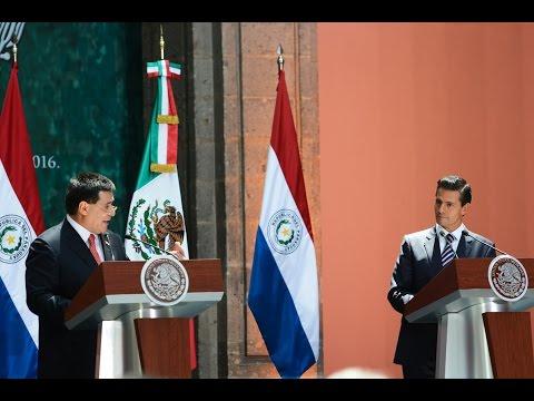 Visita Oficial del de Paraguay, Horacio Cartes Jara: Mensaje a Medios