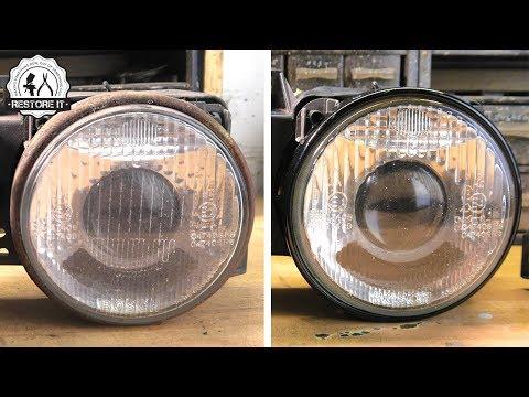 BMW E30 Headlight Restoration | BMW E30 325i Sport Restoration E6 S1