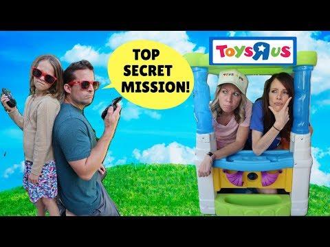 Addy & Jason Take Down the Pretend Toy Store !!!