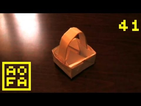 How to make an Origami Basket with Handle ...for all (41)