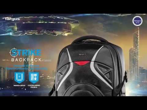 Видео Рюкзак Targus Strike Gaming Backpack для ноутбука 17,3 дюймов