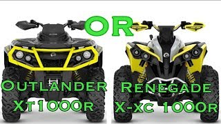 6. Can-Am Outlander XT1000r OR Renegade X-XC 1000R— Which Should You Choose?